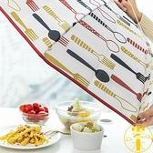 2個裝 菜罩食物罩家用折疊保溫罩防塵飯罩【雲木雜貨】