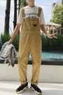 FINDSENSE H1 2018夏  男 新款 清新 直筒純色 寬鬆簡約 背帶