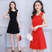 小禮服 夏裝新款修身顯瘦小禮服裙女名媛氣質無袖斜領LJ7939『科炫3C』