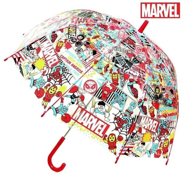 【SAS】漫威 MARVEL 復仇者聯盟 彩繪版 兒童 透明 直立傘/雨傘