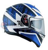 [中壢安信]義大利 AGV K-3 SV K3 SV K3SV PULSE 白黑藍 全罩 安全帽 送涼感頭套