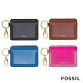 FOSSIL LEE 附鑰匙圈卡片匣-四色任選