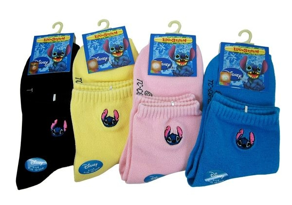【卡漫城】史迪奇 童襪 19~22cm 半統 襪子 ㊣版 星際寶貝 Stitch 台製 ~ 2雙組