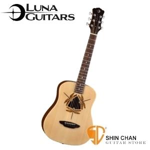 【旅行用民謠吉他】美國品牌 Luna Mini 36吋小吉他 SAFARI DRAGONFLY 附贈原廠Luna Baby吉他袋