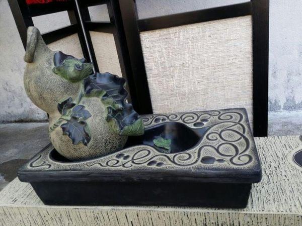[超豐國際]樹脂仿古桌面水景 風水池 招財擺件 葫蘆流
