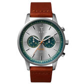 TRIWA  Nevil系列 紳士牛仔兩眼計時腕錶-藍X咖啡