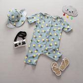 店長推薦 韓國兒童泳衣男童連身小中童可愛溫泉嬰兒沖浪服泳裝寶寶游泳衣