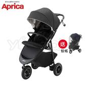 【2019新品】愛普力卡 Aprica SMOOOVE Premium 挑高型座椅大三輪嬰幼兒手推車-黑斯光年 (送蚊帳)