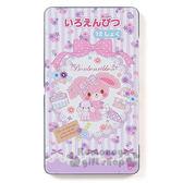 〔小禮堂〕蹦蹦兔 日製盒裝12色鉛筆《紫條紋.花朵.陽傘》日本三菱文具 4901610-90239