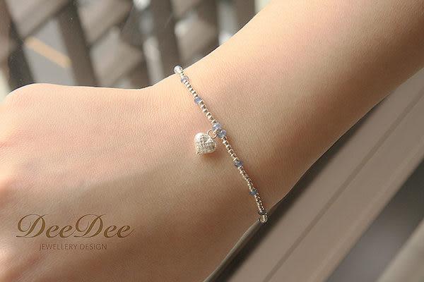 天然藍寶石手鍊,搭配多款 925銀 Charm,DeeDee Jewellery 9月誕生石,生日石,生日禮物