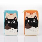 啵啵貓疊疊樂收納包/護照夾/收納袋/拼布包包