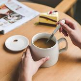 簡約馬克杯帶蓋勺大容量陶瓷茶水杯子定製創意咖啡牛奶早餐燕麥杯 【快速出貨八五折鉅惠】