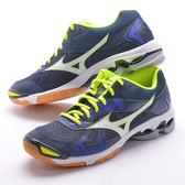 樂買網 MIZUNO 18SS 中高階款 排球鞋 WAVE BOLT 7 V1GA186023 深藍x黃 贈防撞護膝