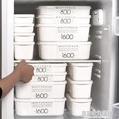 日本進口家用果蔬冰箱保鮮盒套裝收納盒冷凍專用食品級便當水果盒 居家家生活館