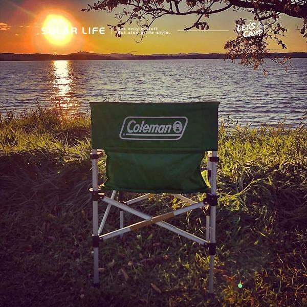 Coleman 兩段式輕巧導演椅/CM-31281/CM-31282.休閒椅折疊椅 扶手露營椅 靠背椅大川椅 登山椅帆布椅