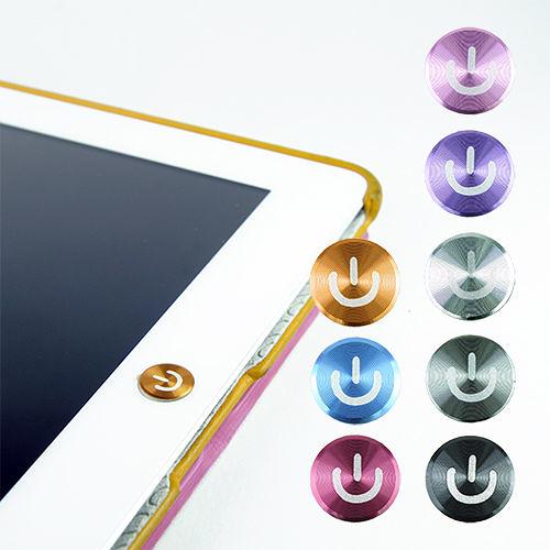 【東西商店】多彩鋁鎂合金按鍵貼(開關款) for iPad | iPhone | iPod Touch