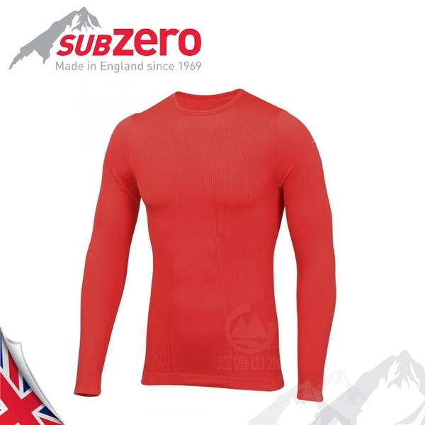 【Sub Zero 英國 Factor1+ 長袖無縫排汗衣《紅》】Factor 1 PLUS/內衣/薄長袖/防曬