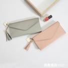 錢包女長款新款韓版簡約個性零錢卡包多功能手拿超薄軟皮錢夾 米希美衣
