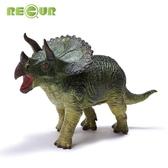 動物模型 軟膠小恐龍玩具塑膠軟仿真動物模型兒童侏羅紀霸王龍 三角龍