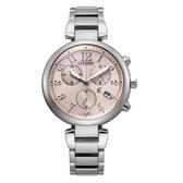 CITIZEN xC光動能輕奢三眼腕錶-銀