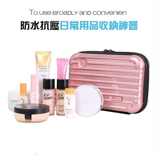 【Love Shop】硬殼迷你行李箱造型收納包 ‧行動電源收納包/化妝包收納包過夜包洗漱包盥洗包手機