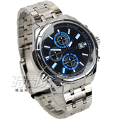 SKMEI 時刻美 大錶徑粗曠時尚真三眼男錶 學生錶 防水手錶 黑x藍 SK9107藍