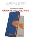 88柑仔店~GOOSPERY 牛仔帆布OPPO F5/A73/A75/A75S手機殼插卡支架保護皮套