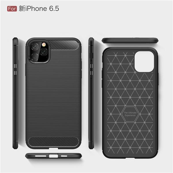 【拉絲碳纖維】蘋果 Apple iPhone 11 Pro Max 6.5吋 防震防摔軟套/保護套/背蓋/全包覆