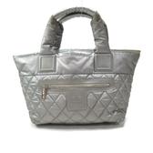 CHANEL 香奈兒 銀色尼龍手提購物包 空氣包Coco Cocoon Reversible Tote Bag BRAND OFF