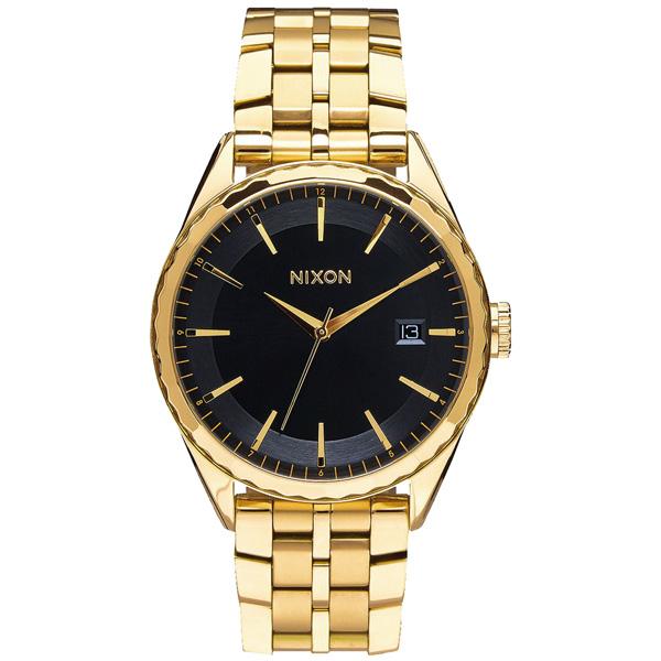 NIXON MINX 紳士特務時尚錶-黑x金