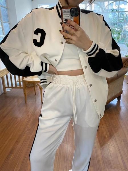 正韓春裝新款飛行夾克外套 花漾小姐【預購】