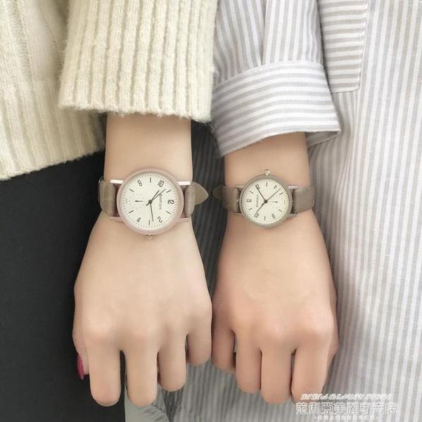 手錶手錶女簡約氣質復古學生小眾品牌文藝百搭大氣時尚ins學院風 萊俐亞