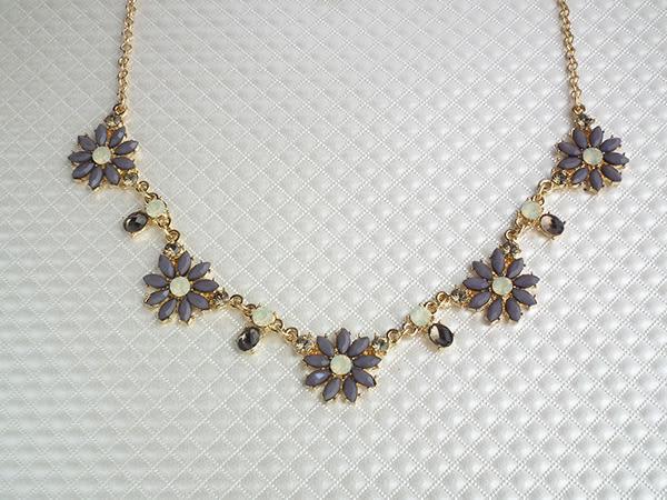 項鍊 華麗粉晶紫晶花 頸鍊 i917ღ