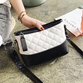 DE shop -韓國 時尚彩色格子配色側背包 - M-687