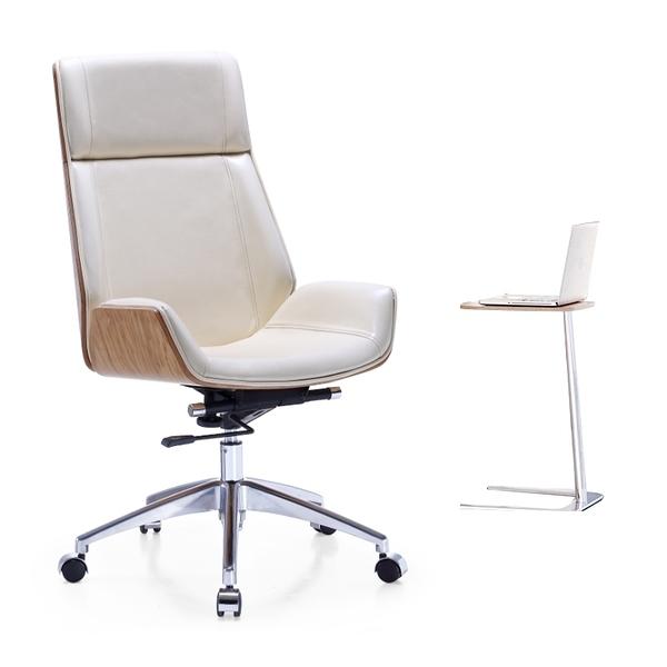 【南洋風休閒傢俱】書房系列-實木辦公椅 簡約風電腦椅 牛皮辦公椅 學生電腦椅 曲木辦公椅