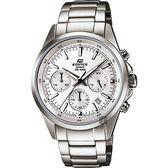 CASIO卡西歐 EDIFICE 經典賽車計時手錶-銀 EFR-527D-7AVUDF / EFR-527D-7AV