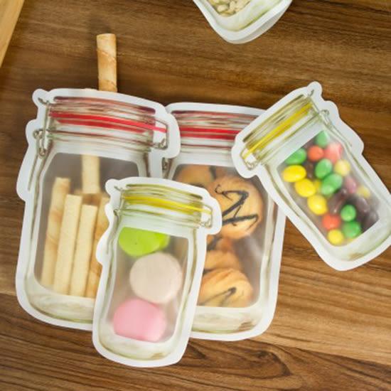 ✭米菈生活館✭【N370】造型密封保鮮袋 小號4入 大號3入 冰箱 水果 保鮮 自封袋 加厚 食物