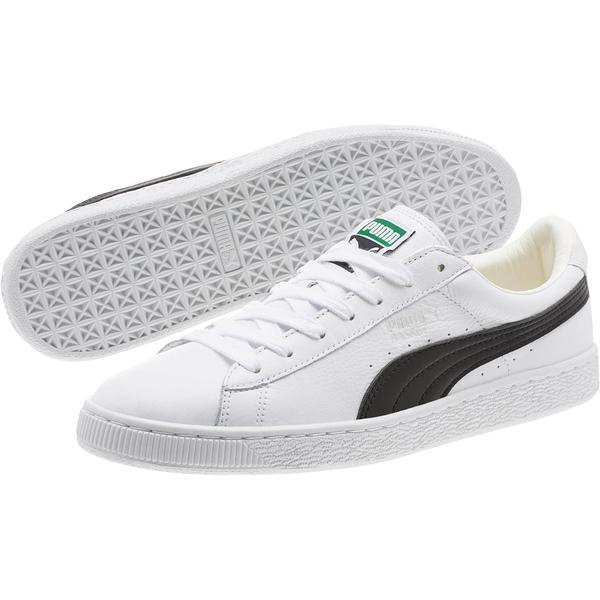 PUMA BASKET CLASSIC LFS 男鞋 女鞋 休閒 復古 皮革 白 黑【運動世界】35436722