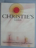 【書寶二手書T2/收藏_PNC】Christie s_Impressionist and…Paper_2001/6/28