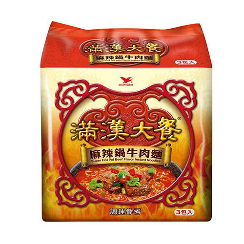 統一滿漢大餐麻辣鍋牛肉麵200Gx3
