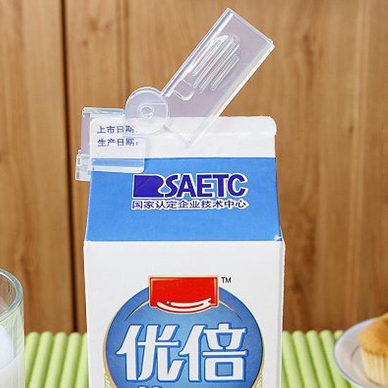 創意牛奶封口夾(兩入) 密封 保鮮 新鮮 加寬 加厚 防潮 滑輪 防塵 衛生【T038】慢思行