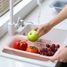 伸縮水槽瀝水架家用廚房水池洗碗放碗筷置物架洗菜盆瀝水籃 格蘭小舖