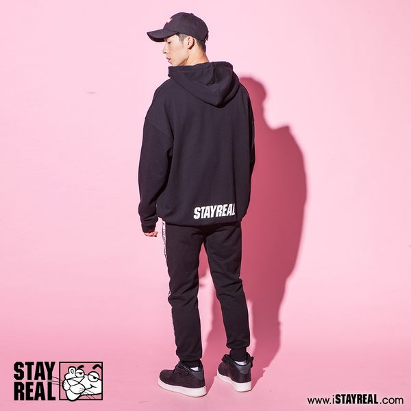STAYREAL x Pink Panther 懶懶粉紅豹連帽T