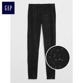 Gap女孩 閃耀彈力針織打底褲 384973-純正黑色