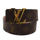 Louis Vuitton LV M9608U 經典花紋路易威登字母飾扣皮帶 90CM 全新 現貨【茱麗葉精品】