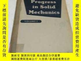 二手書博民逛書店progress罕見in solid mechanics vol