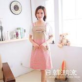 手套/圍裙 居家家防油做飯圍裙女韓版簡約圍腰廚房成人男士家居可愛時尚罩衣