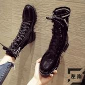 現貨 馬丁靴女百搭秋冬靴子冬季短靴【左岸男裝】