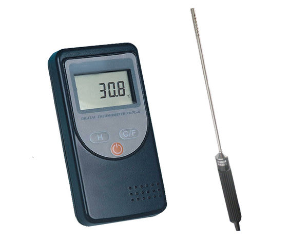 精密微電腦數字溫度計 主機可測:-200~+1372℃ 附測溫棒 可選擇液體或氣體用 自動警報功能