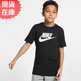 【現貨在庫】Nike Sportswear 女裝 大童 短袖 長T 休閒 黑【運動世界】AR5252-010